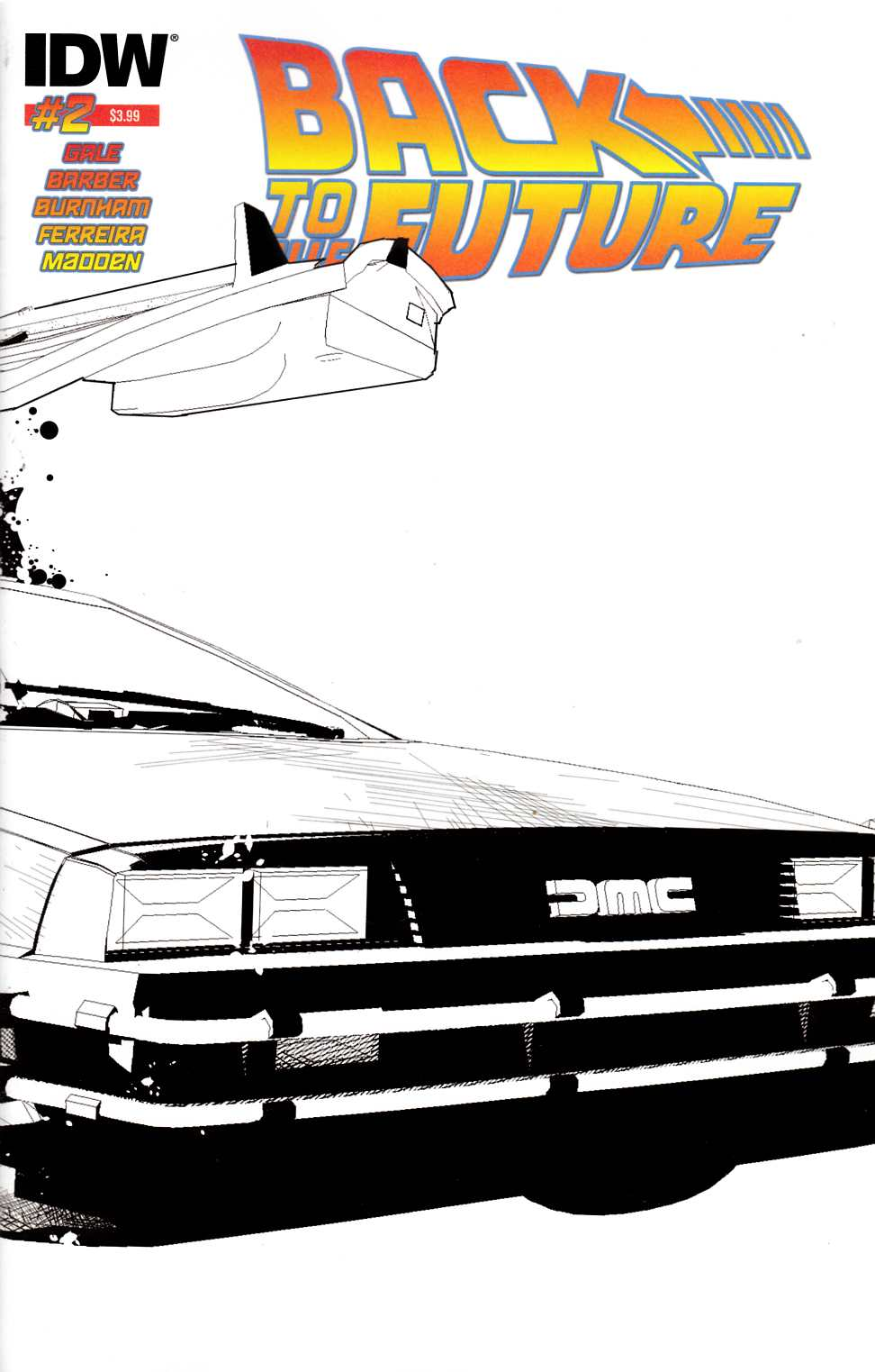 Back to the Future #2 Second Printing [IDW Comic] THUMBNAIL