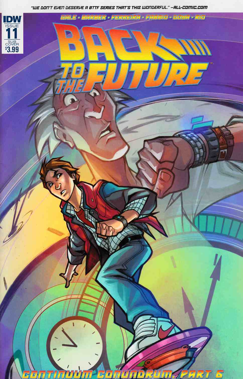 Back to the Future #11 Subscription Cover [IDW Comic]_THUMBNAIL