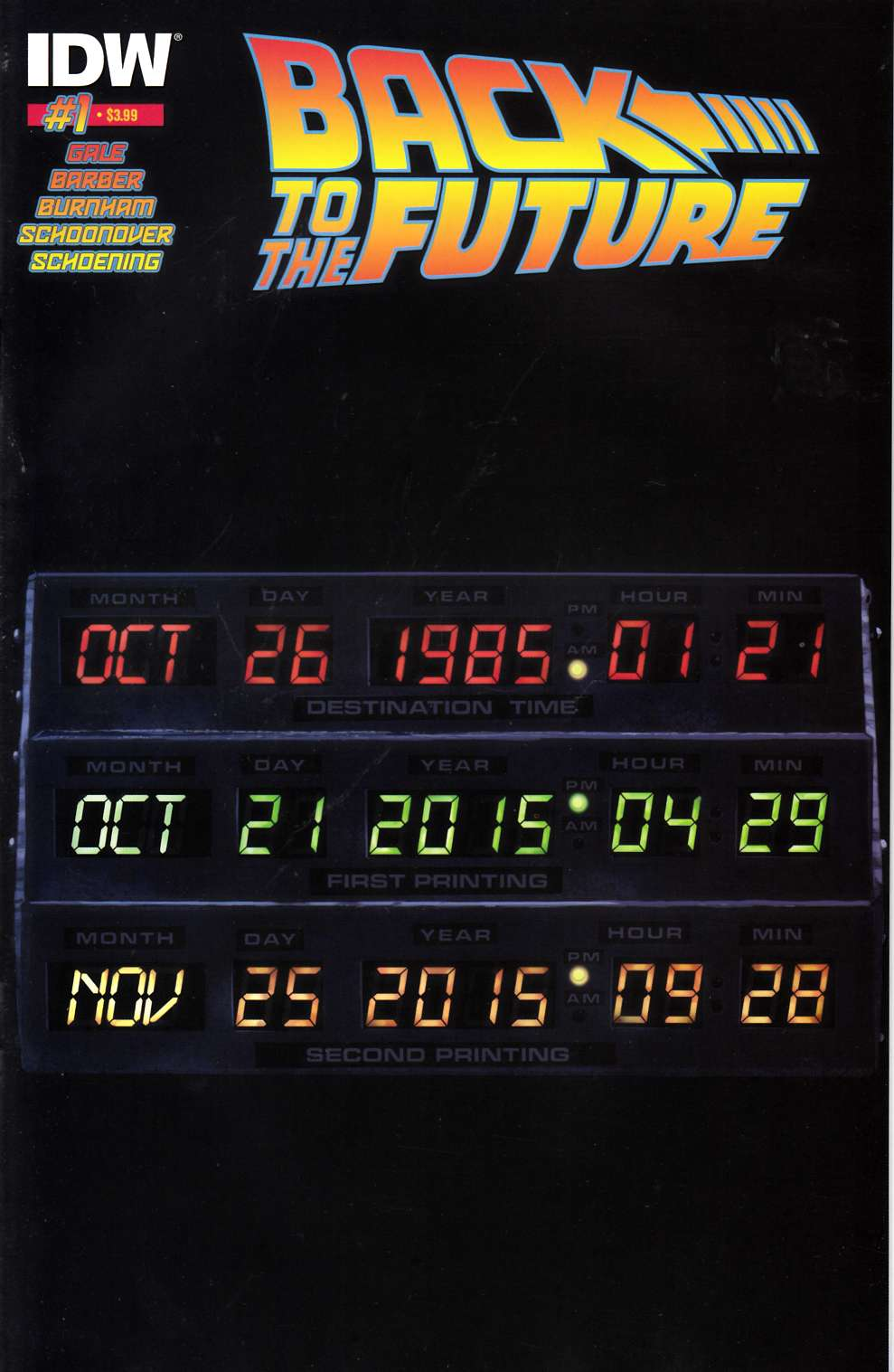 Back to the Future #1 Second Printing [IDW Comic]_THUMBNAIL