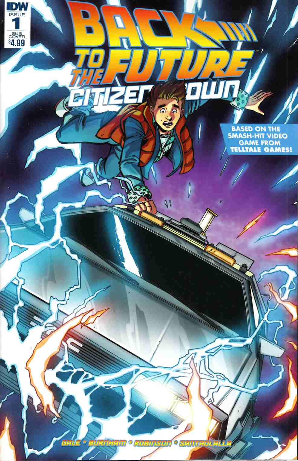 Back to the Future Citizen Brown #1 Subscription Cover [IDW Comic]