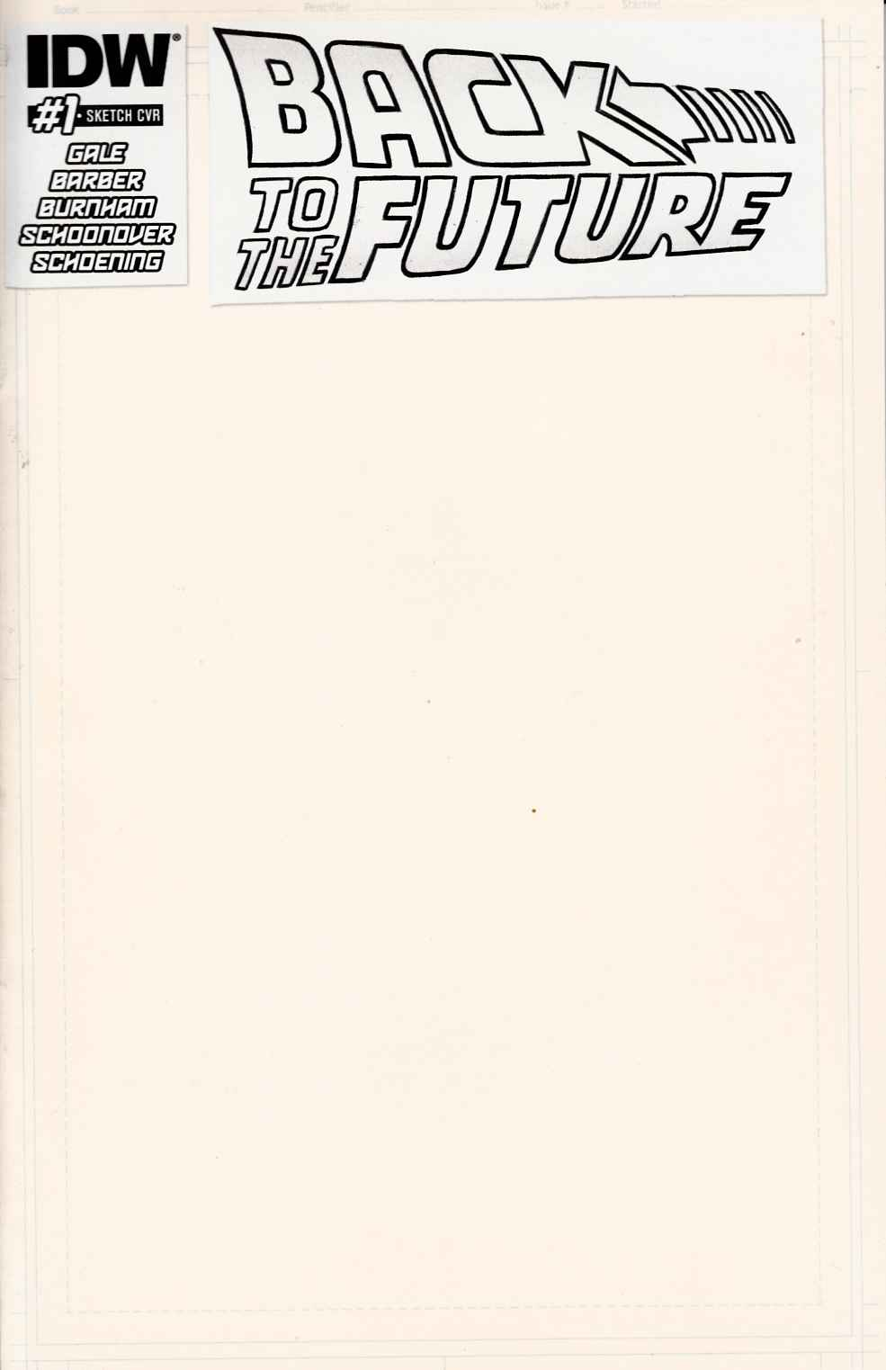 Back to the Future #1 Artist Edition Blank Sketch Cover [IDW Comic]_THUMBNAIL