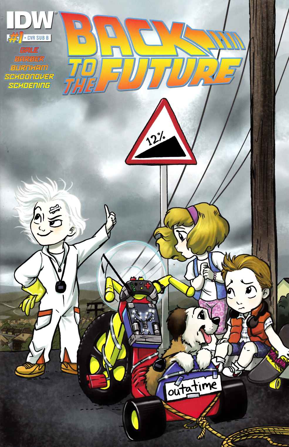 Back to the Future #1 Subscription B Cover [IDW Comic]_THUMBNAIL