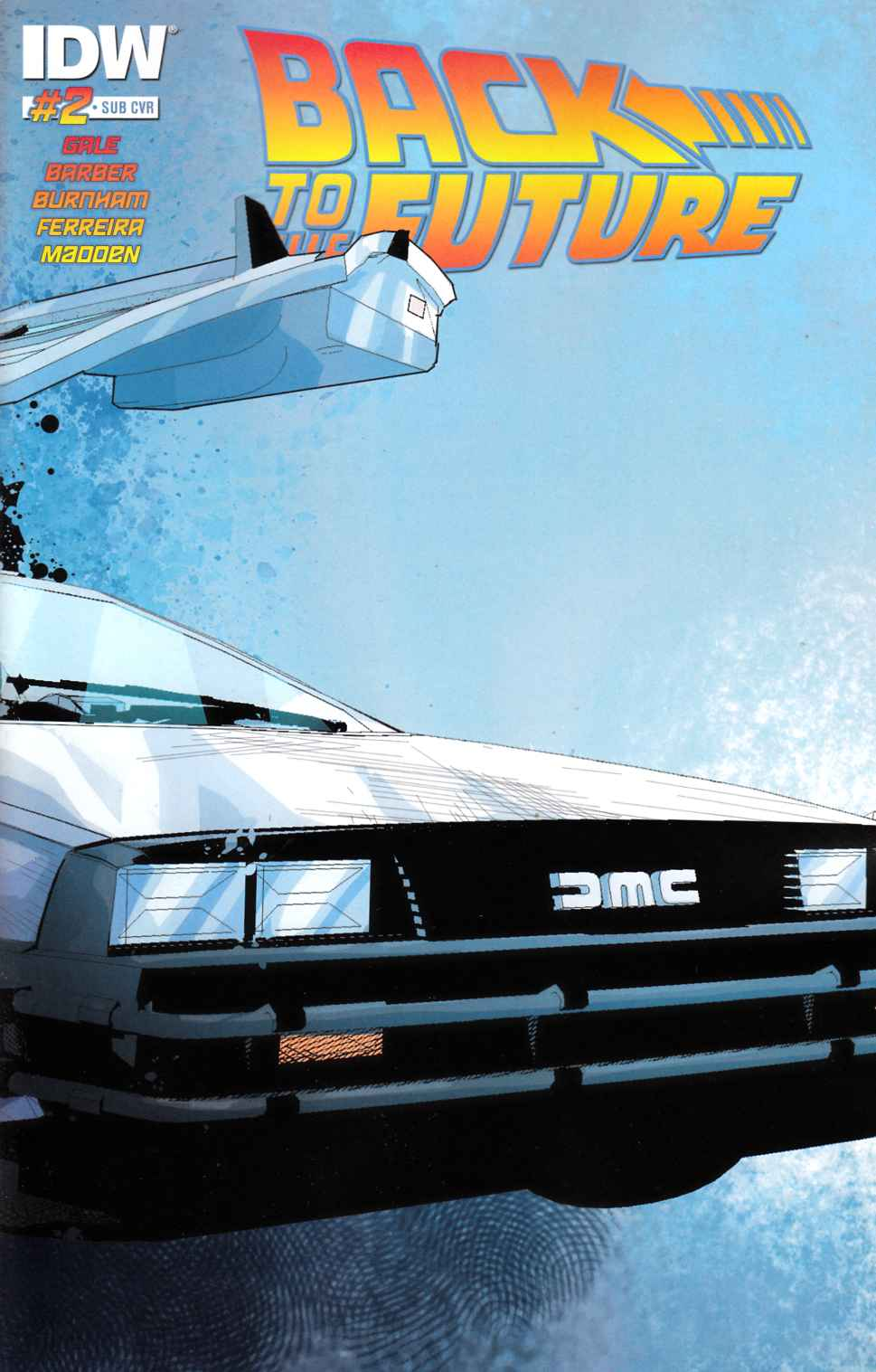 Back to the Future #2 Subscription Cover [IDW Comic] THUMBNAIL