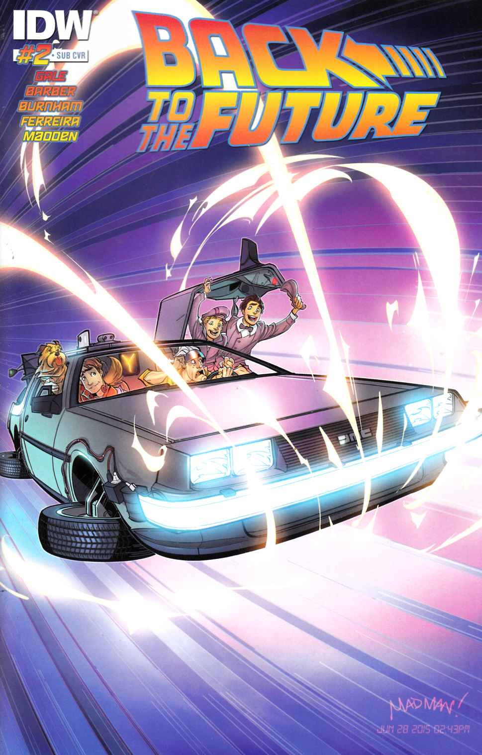 Back to the Future #2 Delorean Subscription Cover [IDW Comic] THUMBNAIL