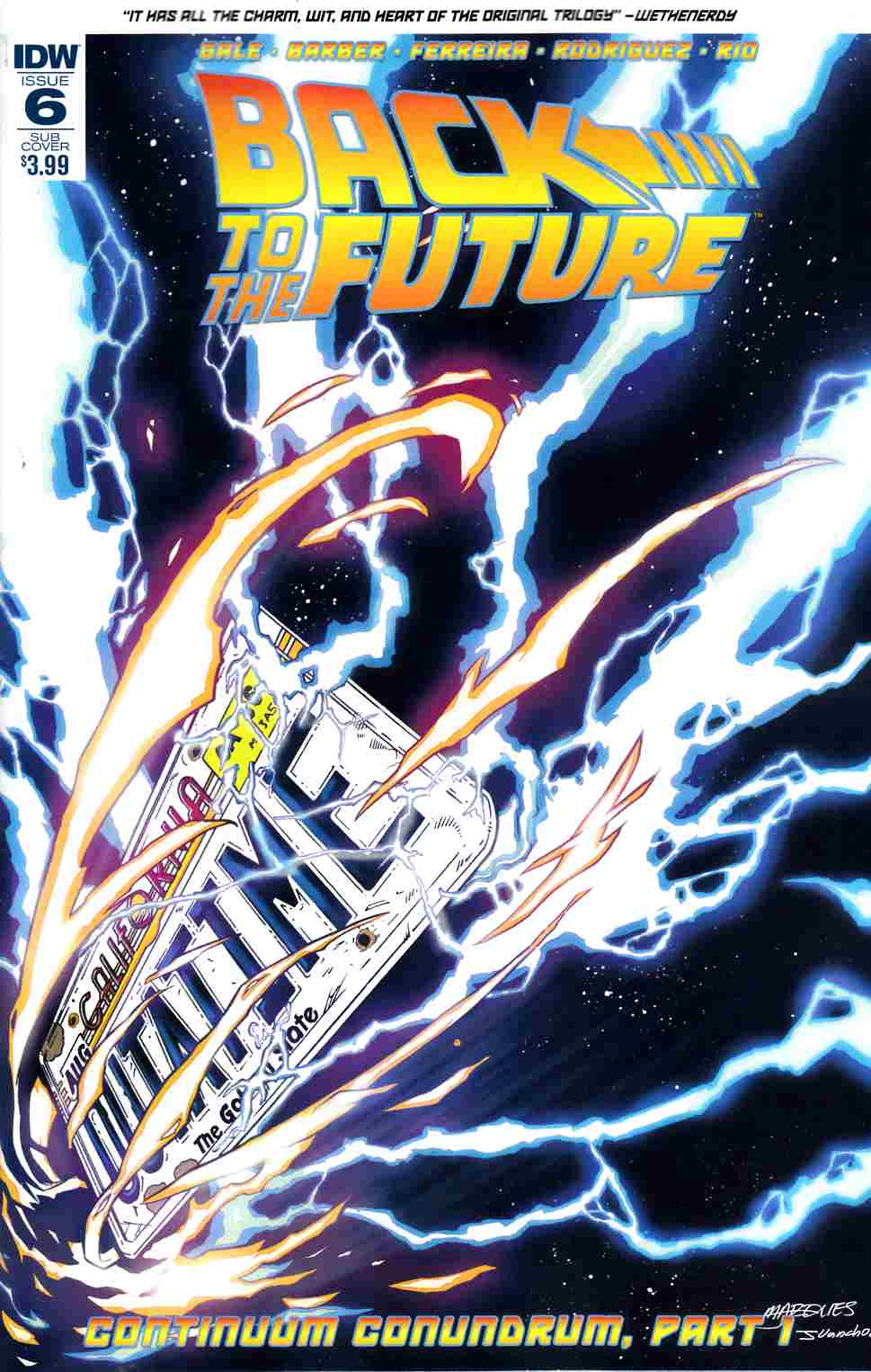Back to the Future #6 Subscription Cover [IDW Comic] THUMBNAIL