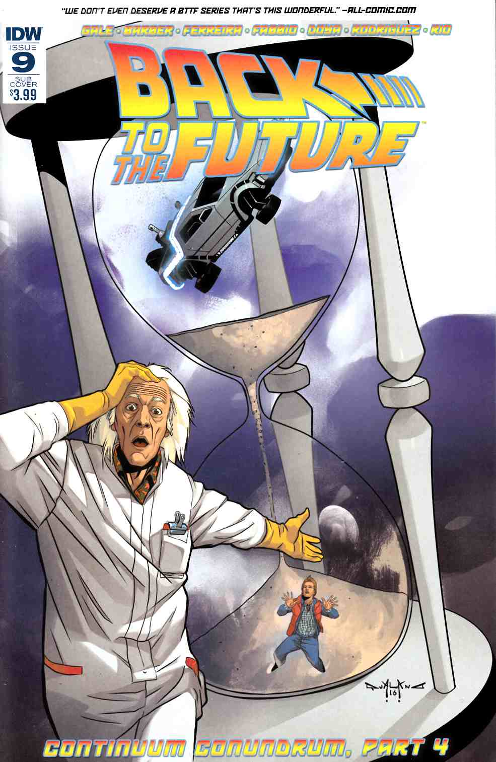 Back to the Future #9 Subscription Cover [IDW Comic] THUMBNAIL
