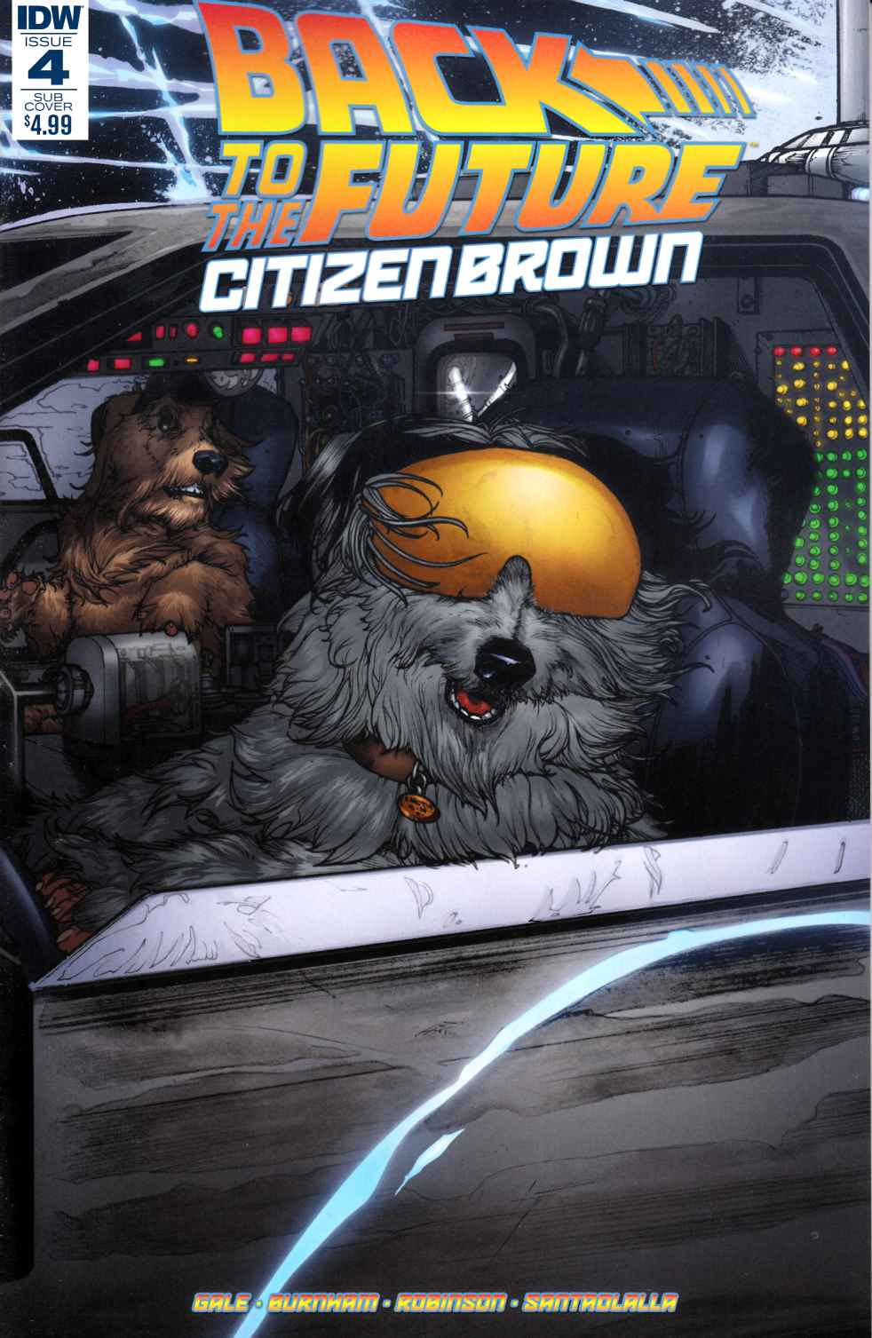 Back to the Future Citizen Brown #4 Subscription Cover [IDW Comic]
