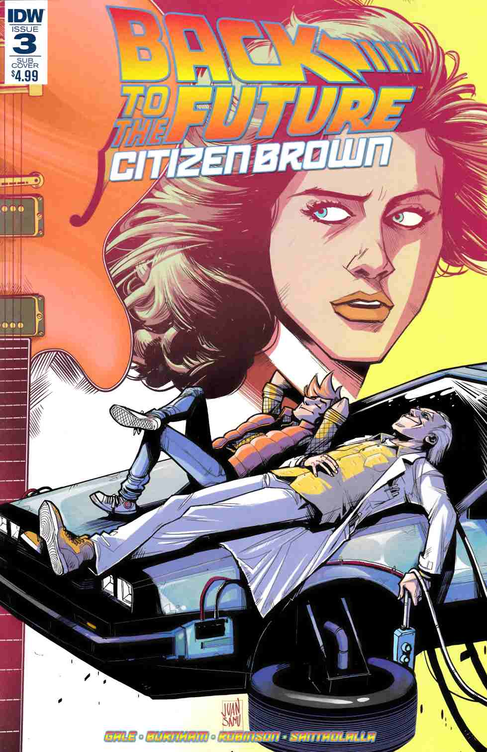 Back to the Future Citizen Brown #3 Subscription Cover [IDW Comic]