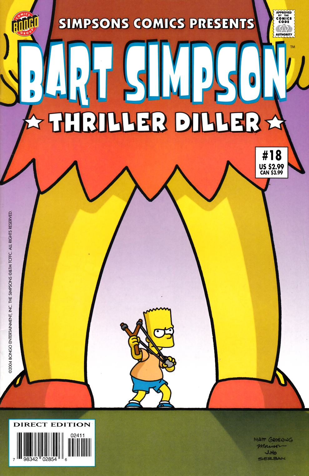 Bart Simpson Comics #18 Very Fine Plus (8.5) [Bongo Comic] LARGE