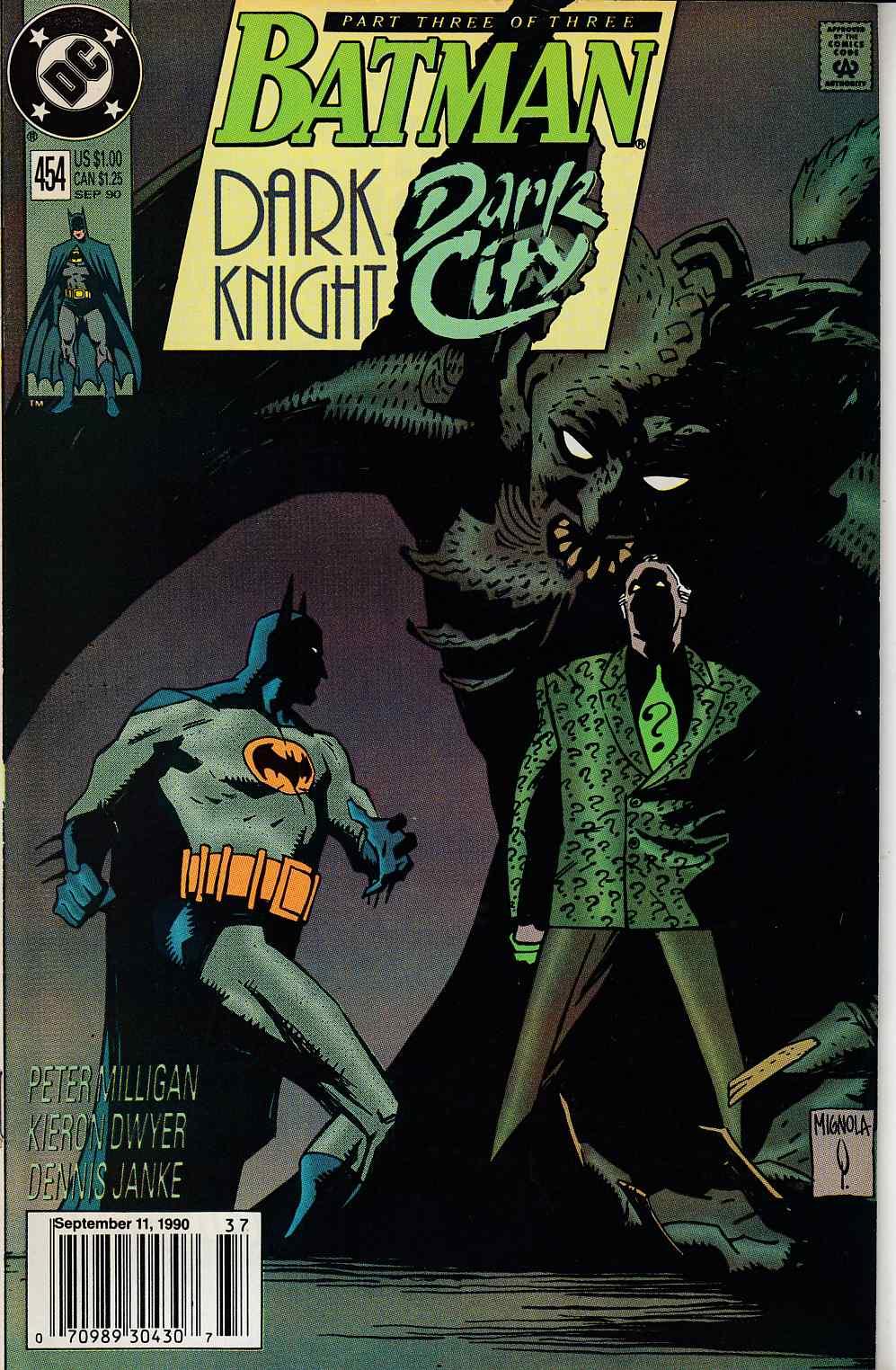 BATMAN #453 VERY FINE 1990 DC COMICS