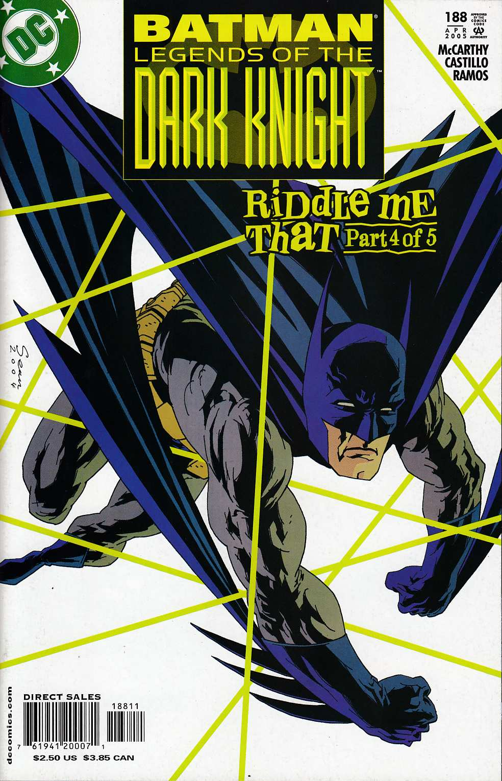 Batman Legends of the Dark Knight #188 Near Mint (9.4) [DC Comic] LARGE