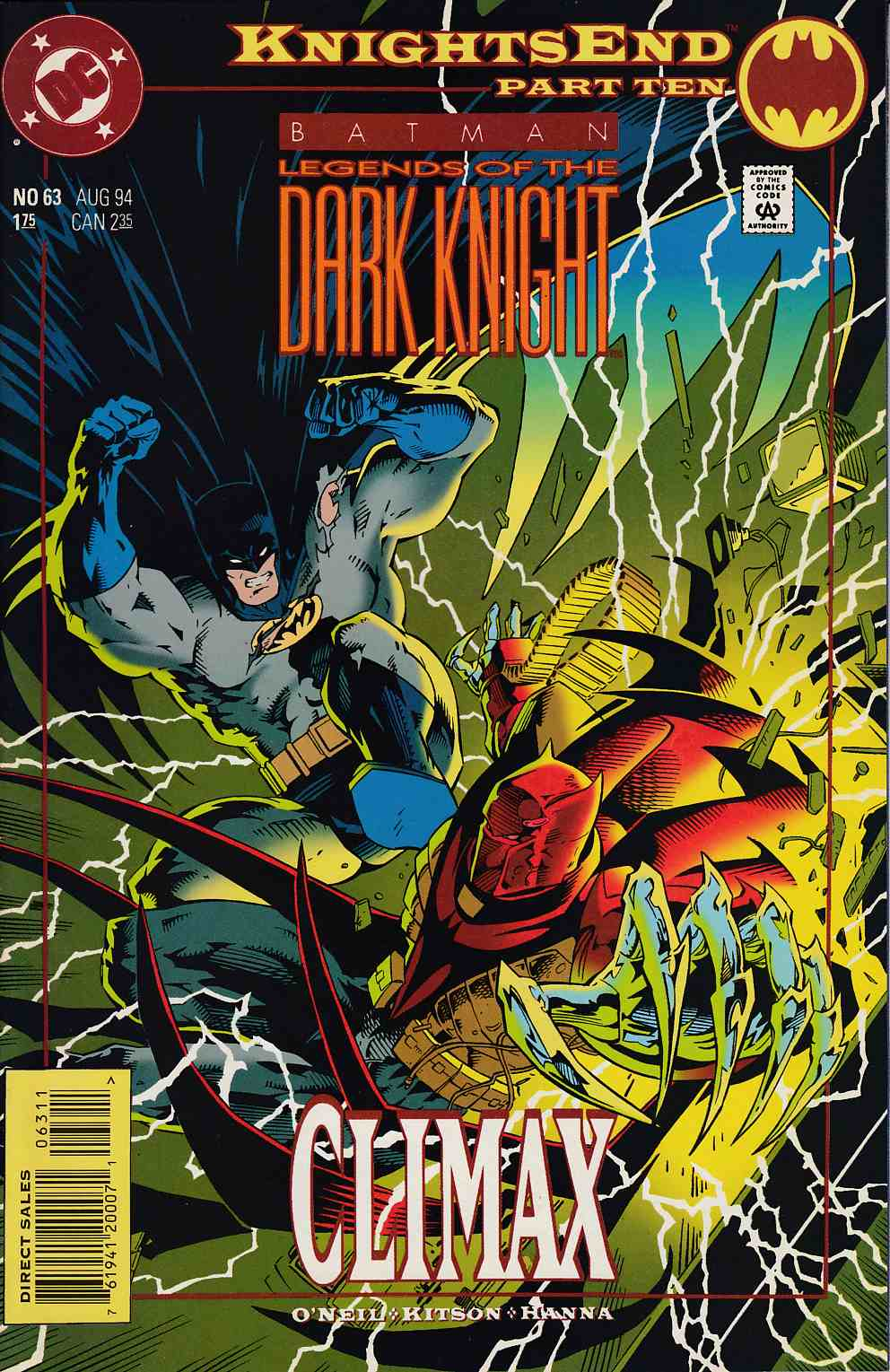 Batman Legends of the Dark Knight #63 Very Fine (8.0) [DC Comic] LARGE