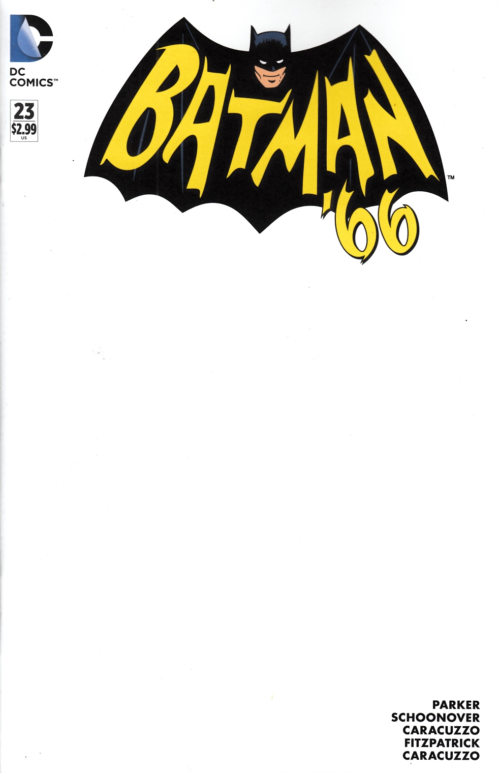 Batman 66 #23 Blank Cover Near Mint (9.4) [DC Comic]