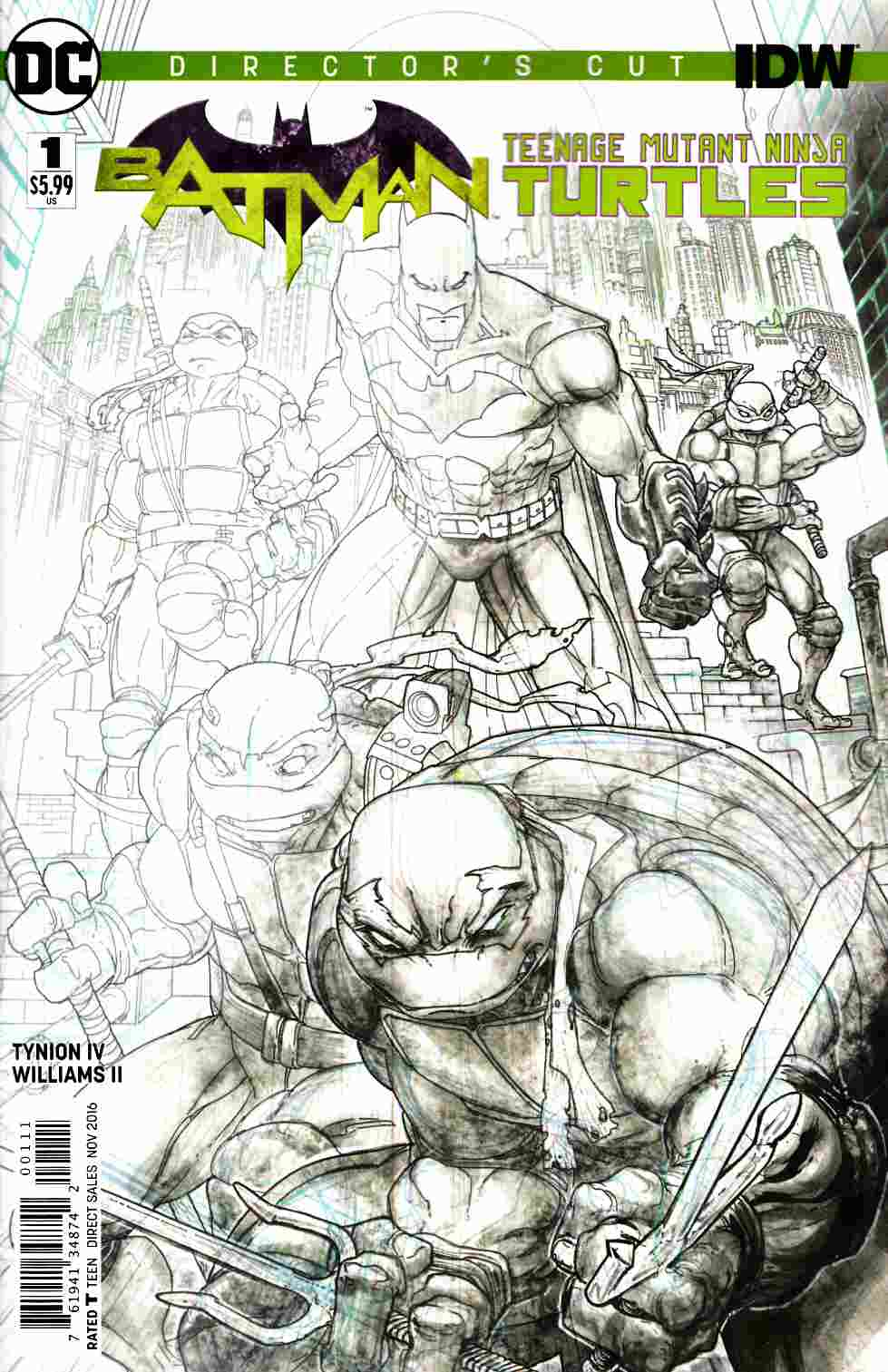 Batman Teenage Mutant Ninja Turtles #1 Directors Cut Edition [DC Comic] LARGE