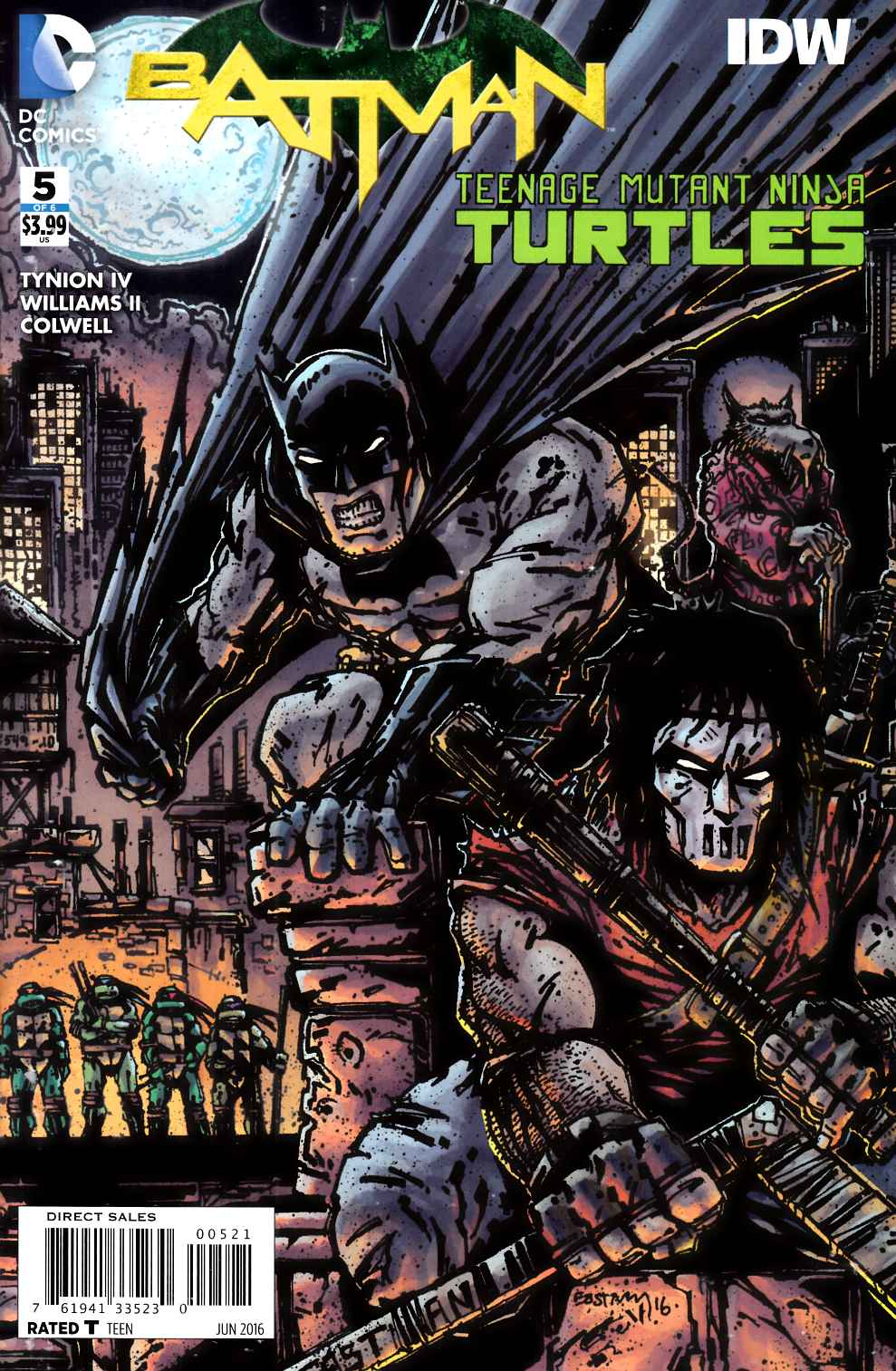 Batman Teenage Mutant Ninja Turtles #5 Eastman Variant Cover [DC Comic] THUMBNAIL