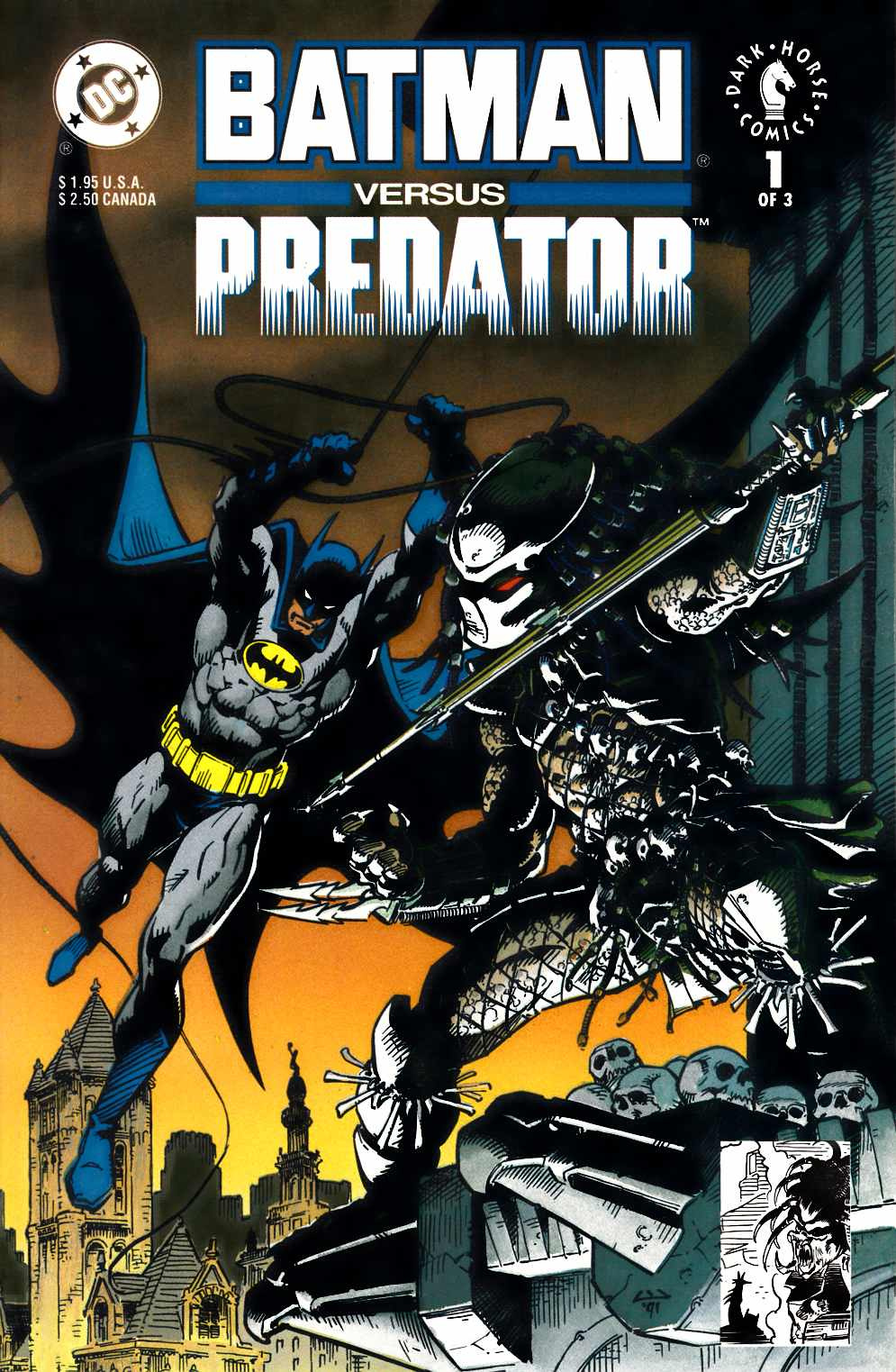 Batman vs Predator #1 Newsstand Edition Near Mint Minus (9.2) [DC Comic]_THUMBNAIL