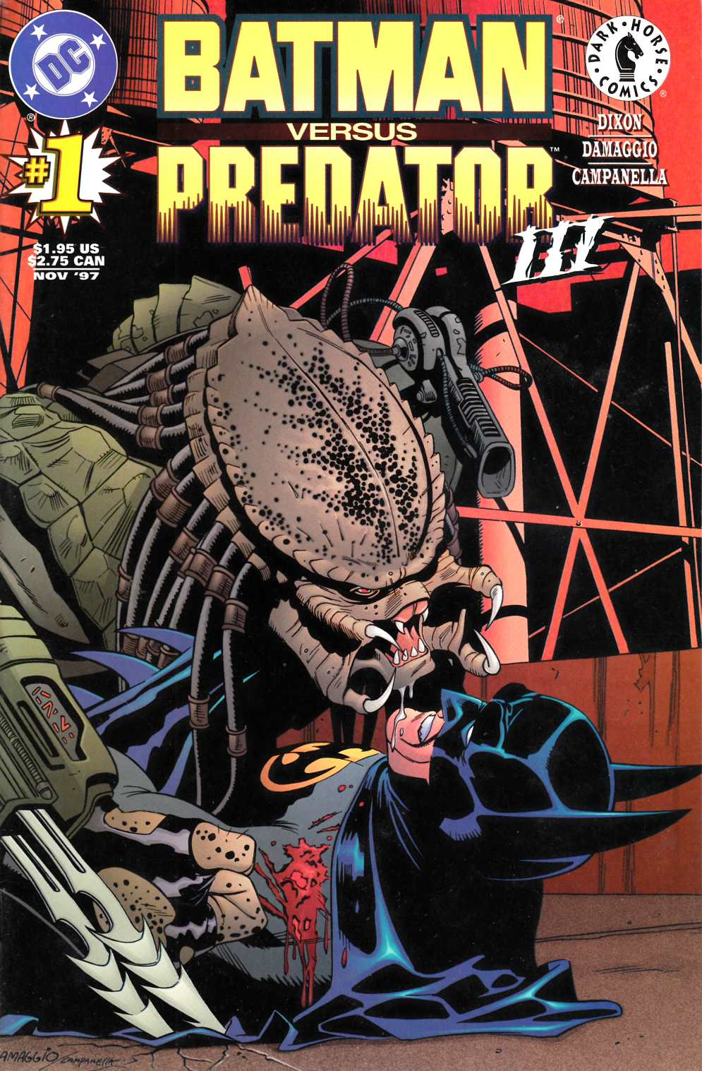 Batman vs Predator III #1 Near Mint Minus (9.2) [DC Comic]_THUMBNAIL