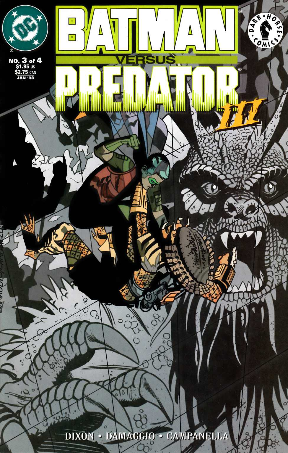 Batman vs Predator III #3 Very Fine (8.0) [DC Comic]_THUMBNAIL