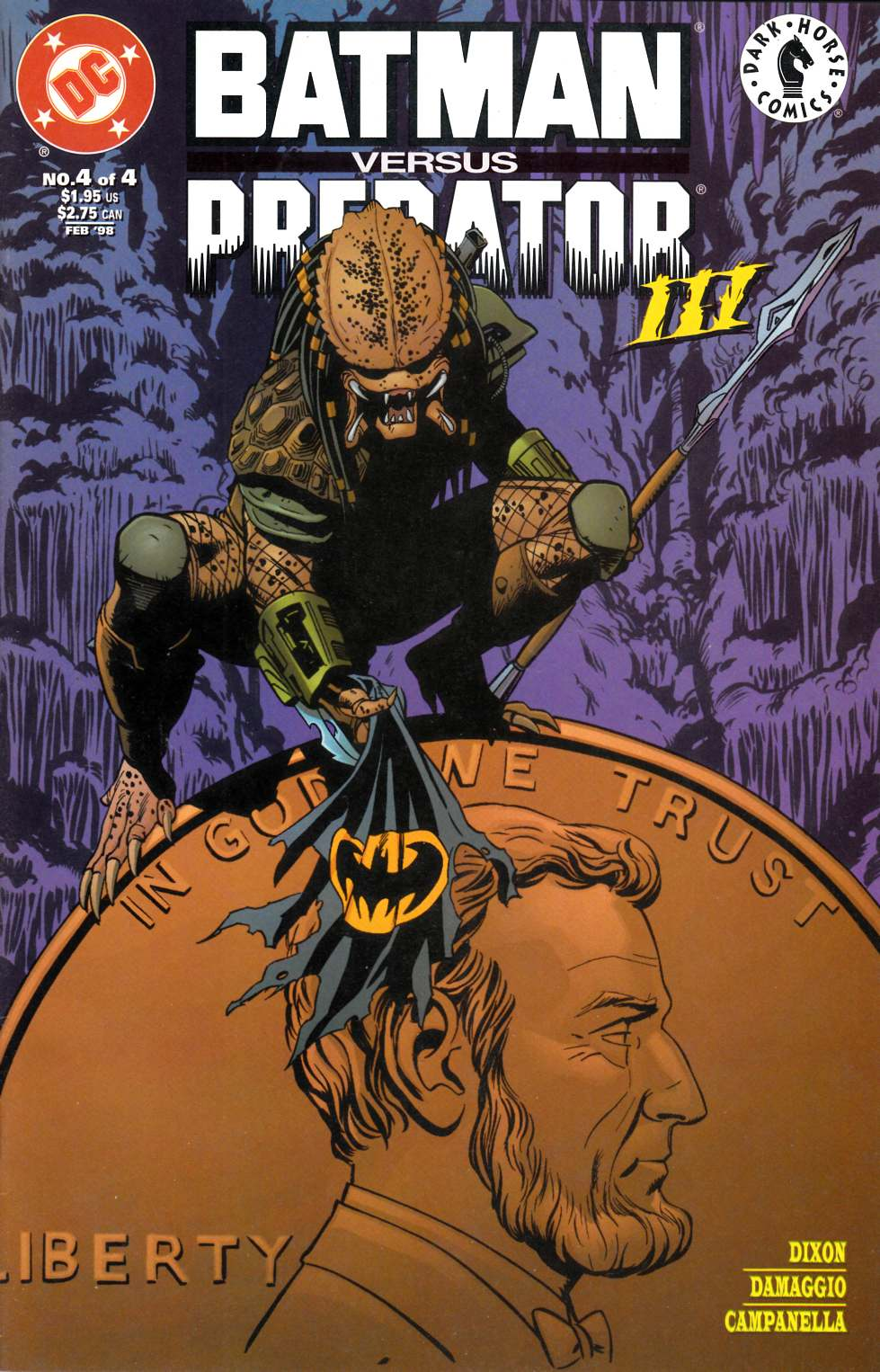 Batman vs Predator III #4 Very Fine (8.0) [DC Comic]_THUMBNAIL