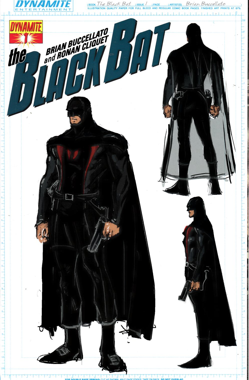 Black Bat #1 Buccellato Design Variant Cover Near Mint (9.4) [Dynamite Comic] THUMBNAIL