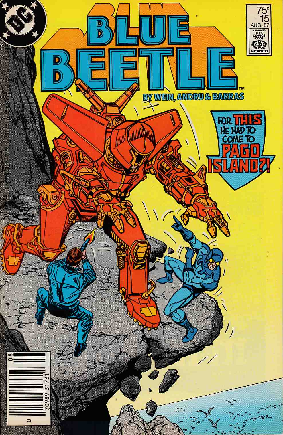 Blue Beetle #15 Newsstand Edition Very Fine Minus (7.5) [DC Comic] LARGE