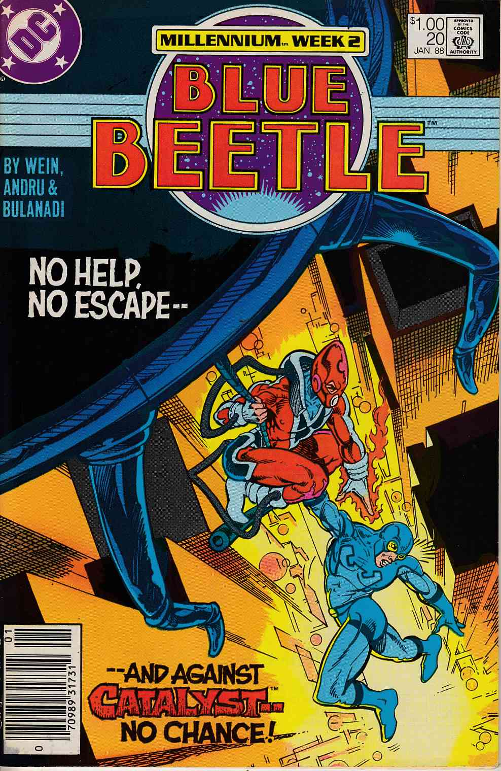 Blue Beetle #20 Newsstand Edition Fine (6.0) [DC Comic] LARGE