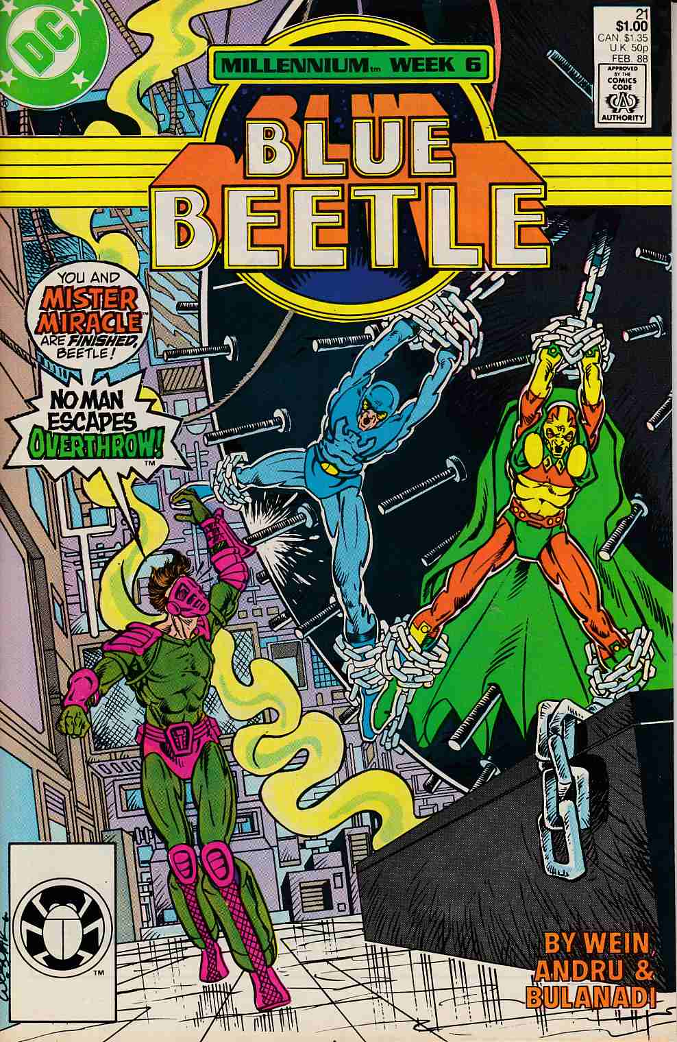 Blue Beetle #21 Very Fine (8.0) [DC Comic] LARGE