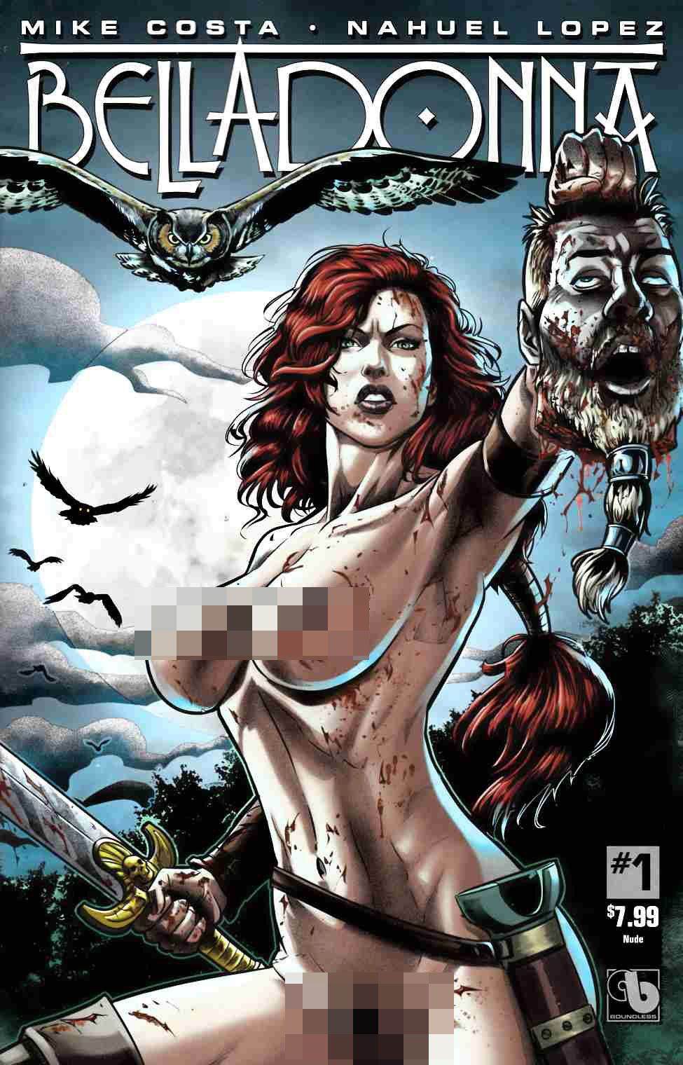 Belladonna #1 Nude Cover [Boundless Comic] THUMBNAIL