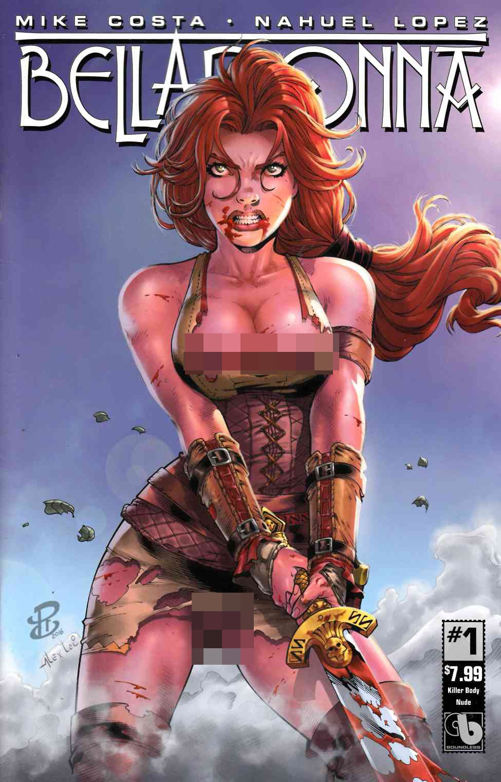 Belladonna #1 Killer Body Nude Cover [Boundless Comic] THUMBNAIL