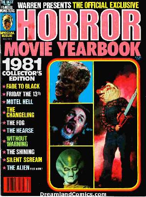 Famous monsters: horror movie yearbook 1981