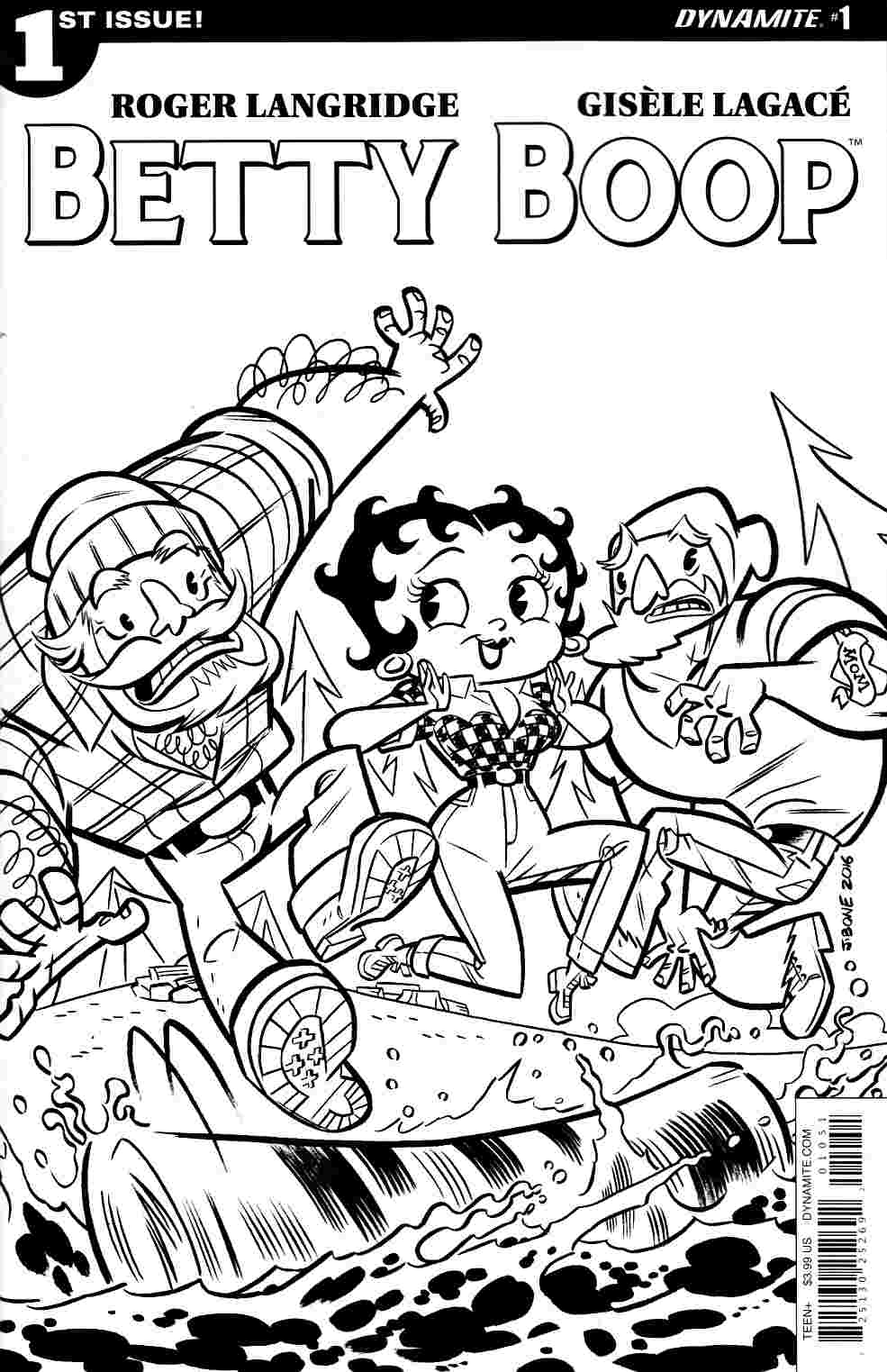 Betty Boop #1 Cover E- Coloring Book [Dynamite Comic] LARGE