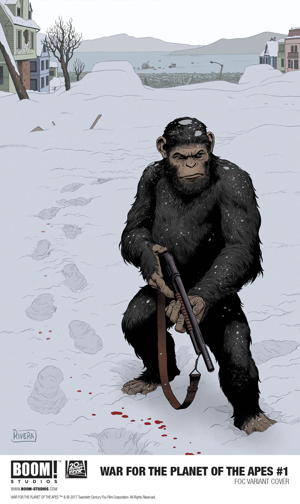 War For Planet of the Apes #1 FOC Variant Cover [Boom Comic] THUMBNAIL