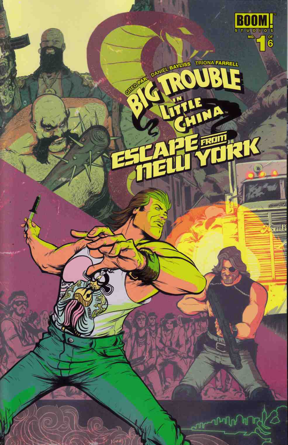 Big Trouble In Little China Escape From New York #1 Cover A [Boom Comic] THUMBNAIL