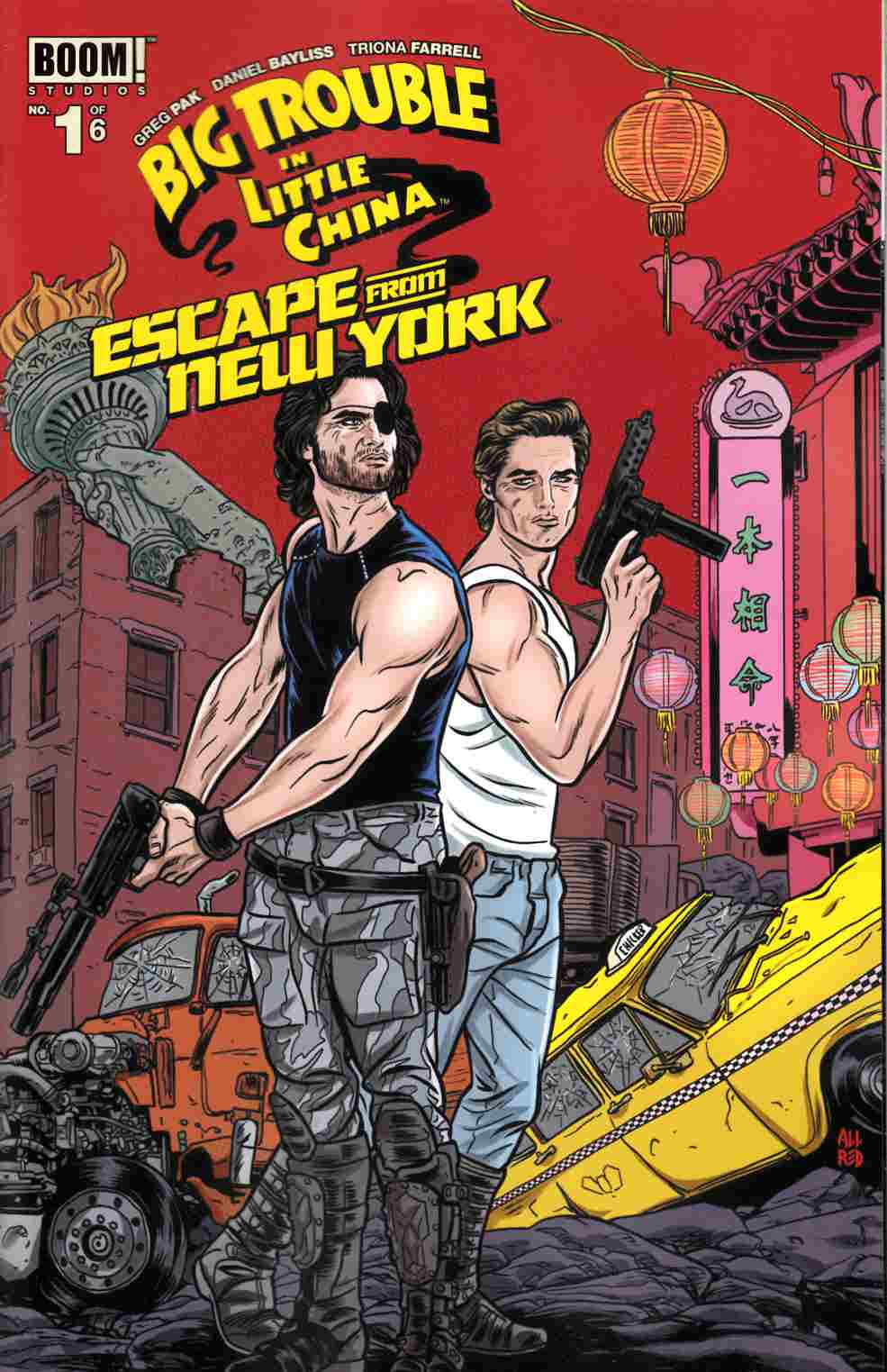 Big Trouble In Little China Escape From New York #1 Subscription Cover [Boom Comic]