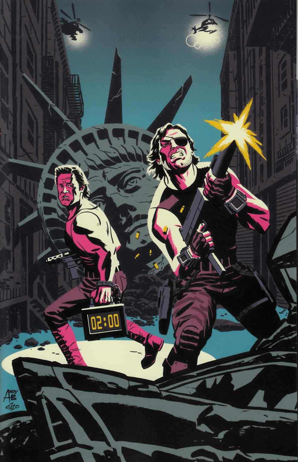 Big Trouble In Little China Escape From New York #1 East Variant Cover [Boom Comic]