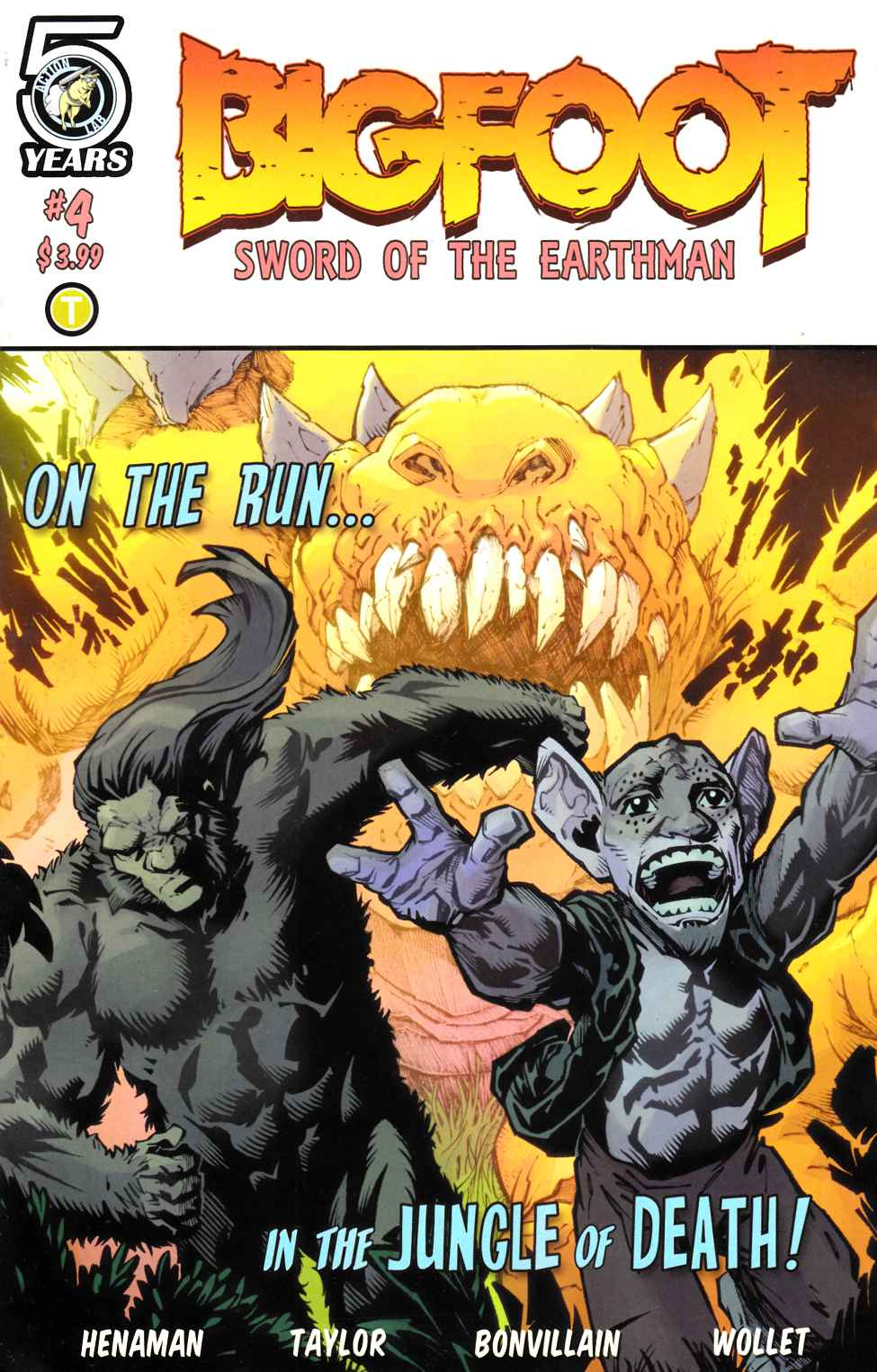 Bigfoot Sword of the Earthman #4 Cover A- Taylor [Action Lab Comic] LARGE