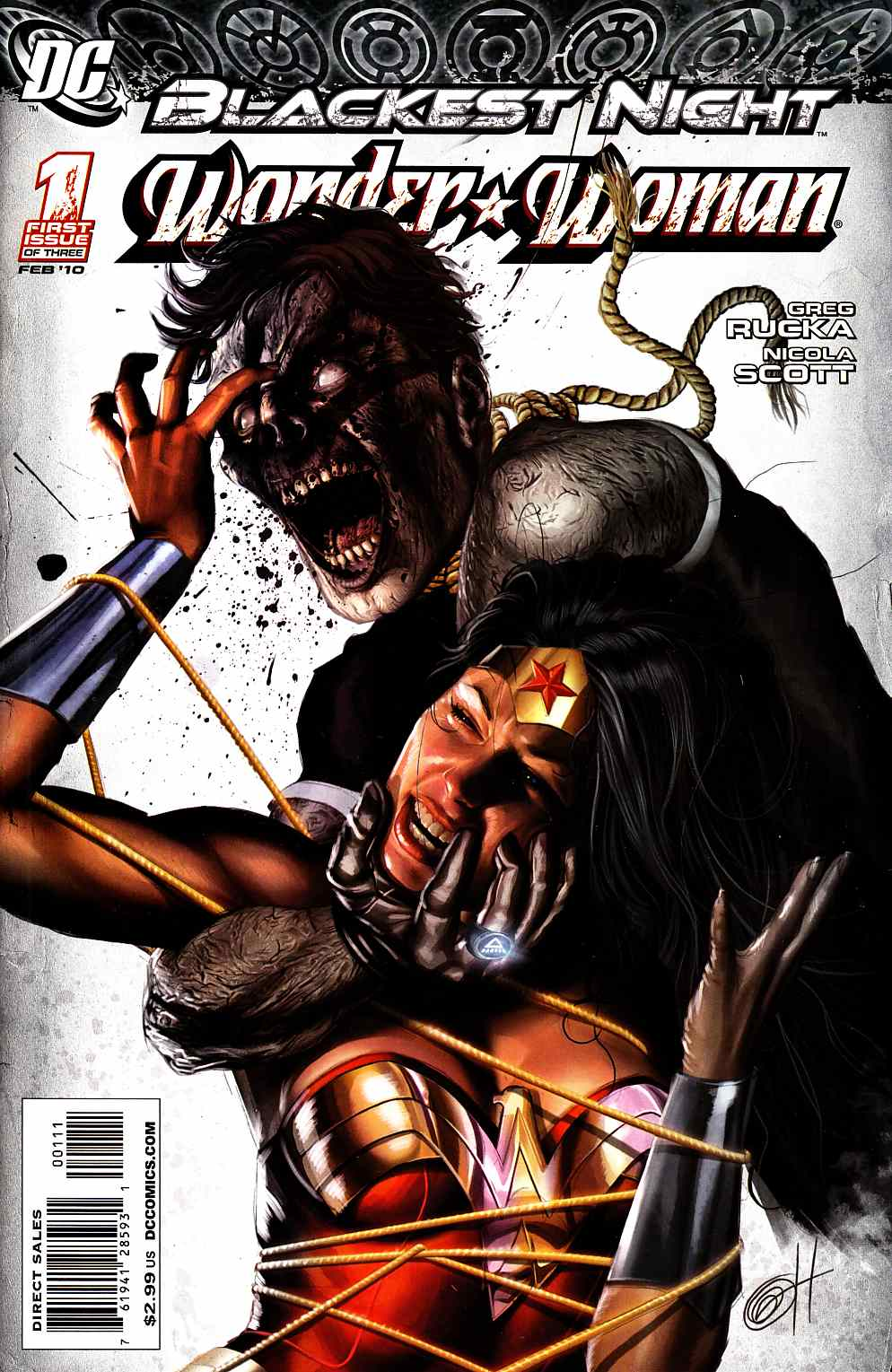 Blackest Night Wonder Woman #1 Near Mint (9.4) [DC Comic] THUMBNAIL