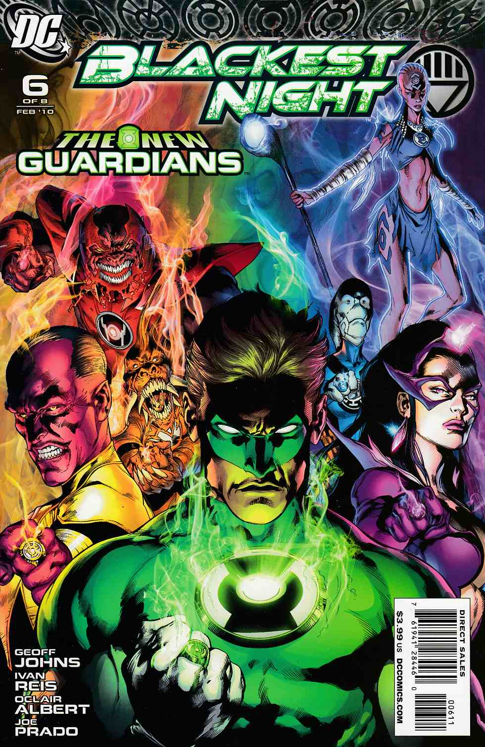 Blackest Night #6 Very Fine (8.0) [DC Comic] THUMBNAIL