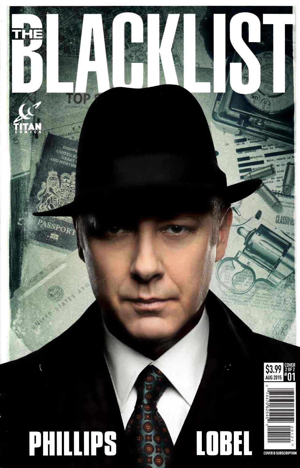 Blacklist #1 Subscription Photo Cover [Titan Comic] THUMBNAIL
