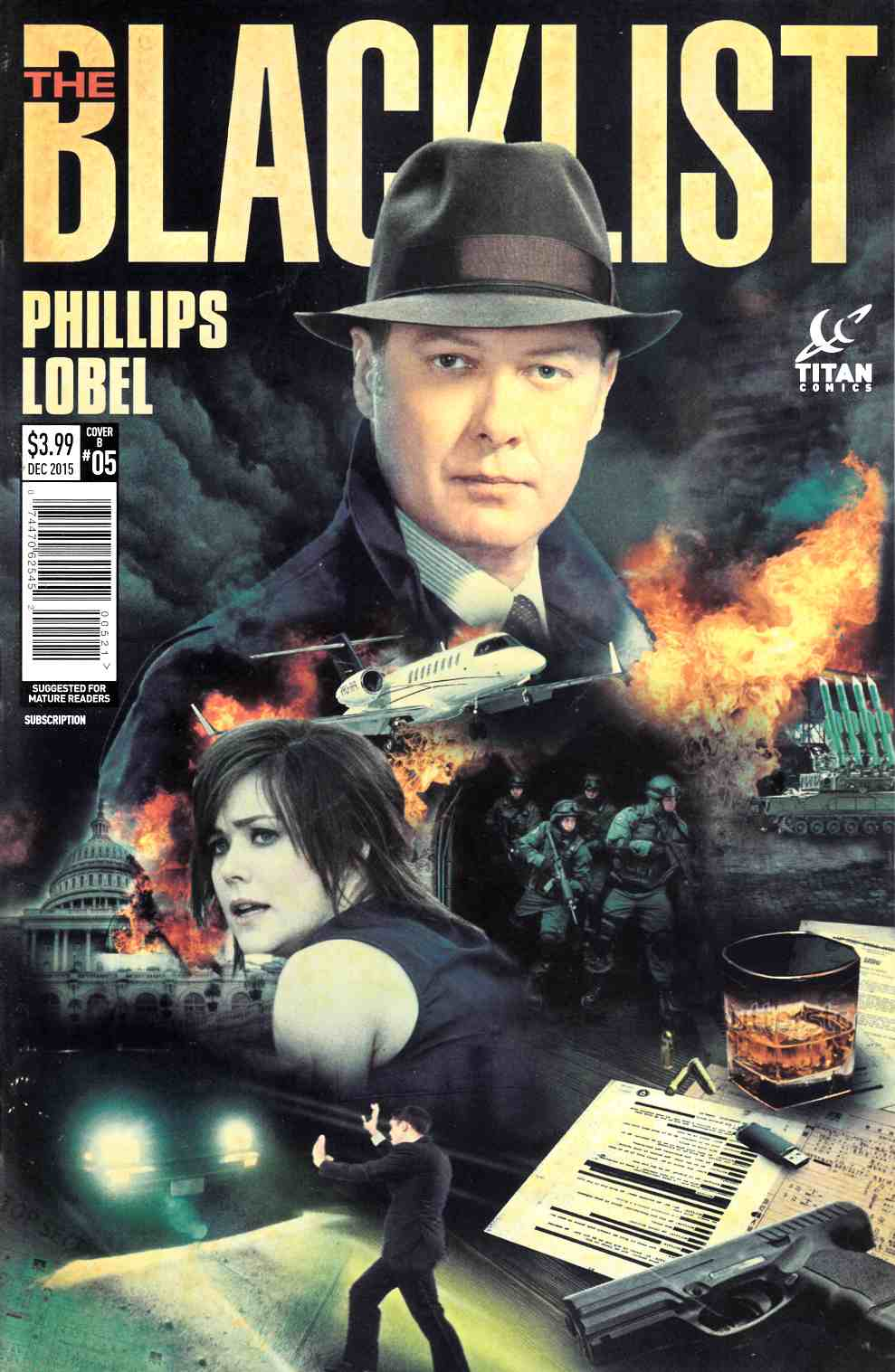 Blacklist #5 Subscription Photo Cover [Titan Comic] THUMBNAIL