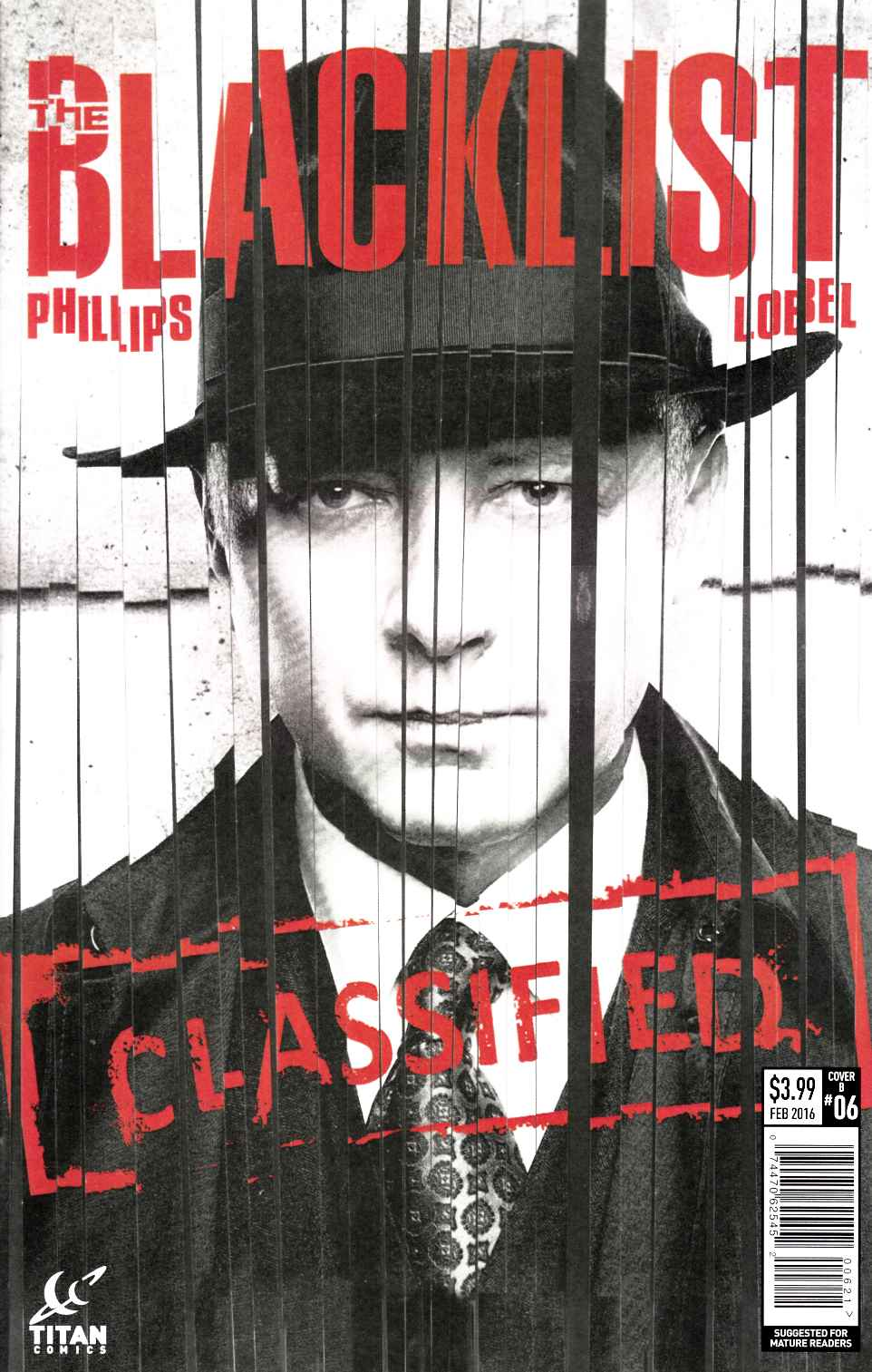 Blacklist #6 Lobel Subscription Cover [Titan Comic] THUMBNAIL