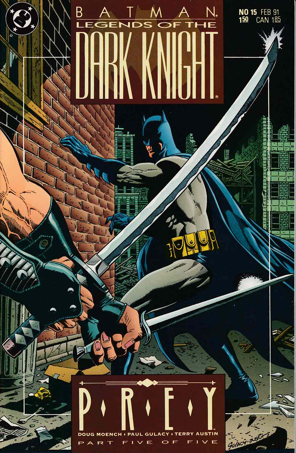 Batman Legends of the Dark Knight #15 Near Mint (9.4) [DC Comic] THUMBNAIL