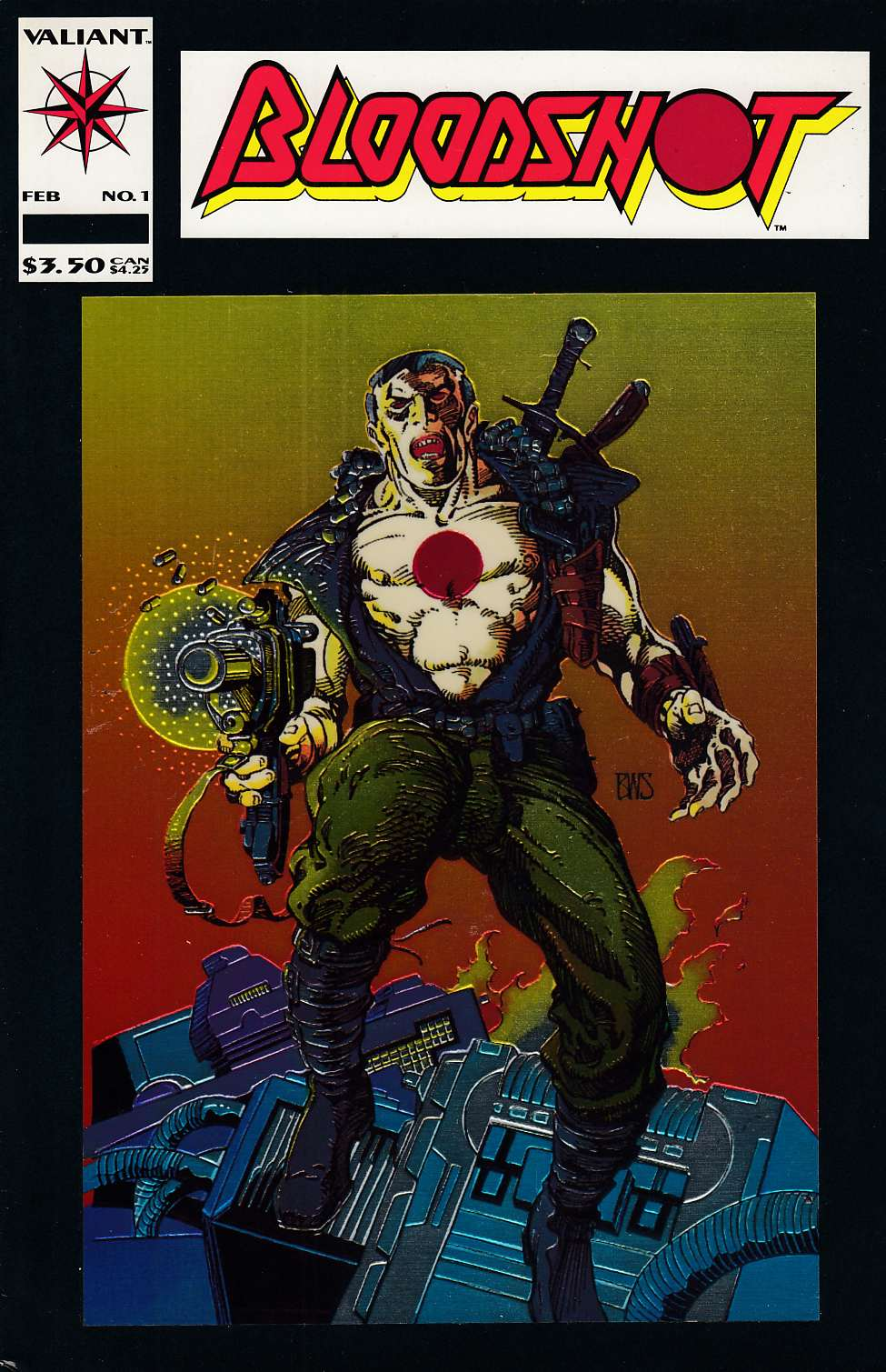 Bloodshot #1 Fine Plus (6.5) [Valiant Comic] THUMBNAIL