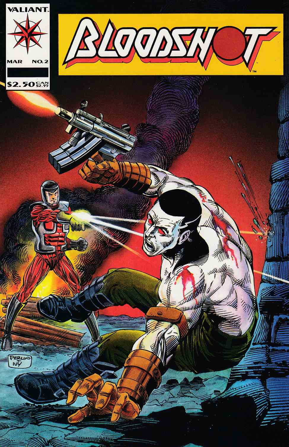Bloodshot #2 Very Fine Minus (7.5) [Valiant Comic] THUMBNAIL