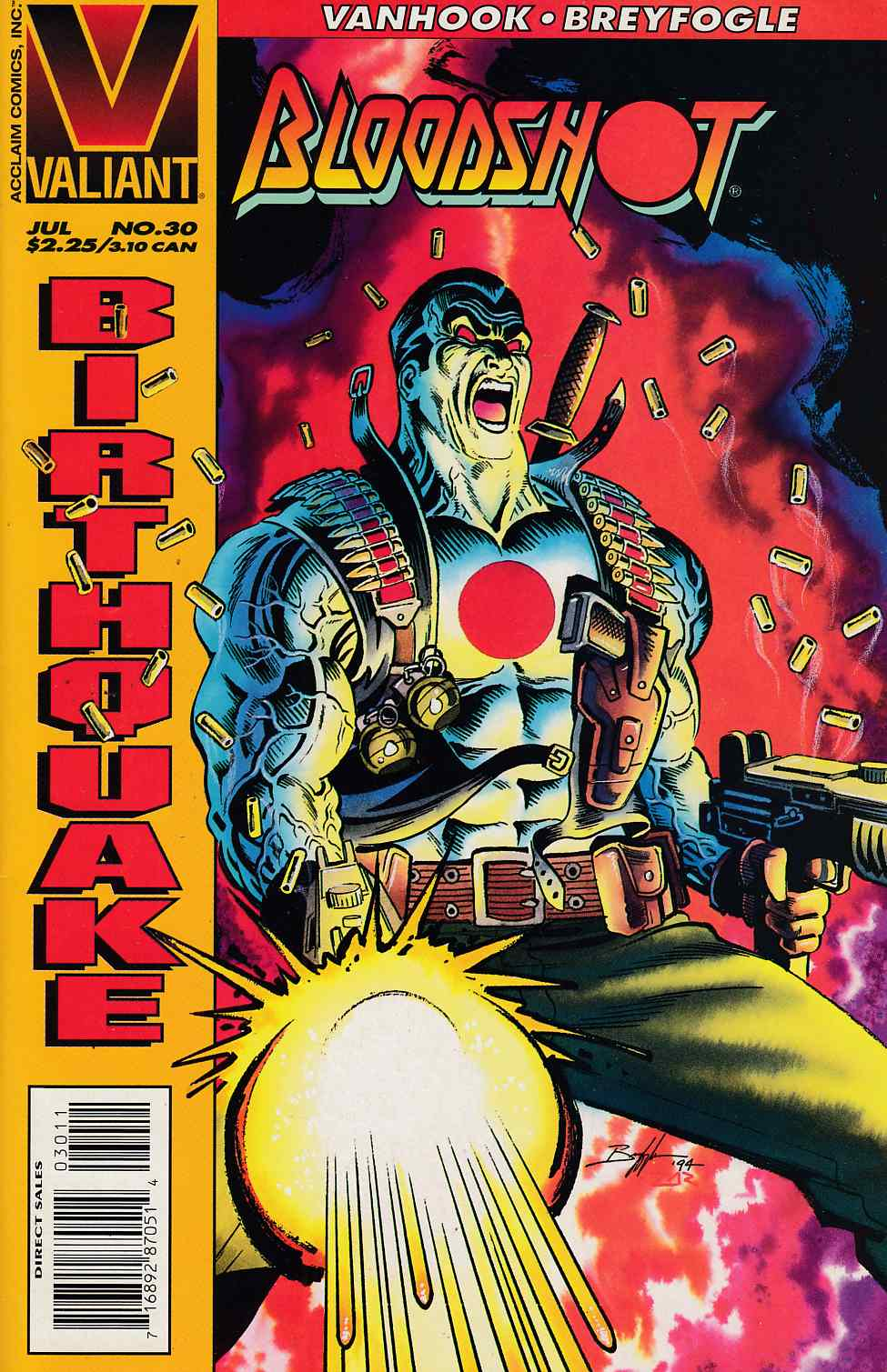 Bloodshot #30 Near Mint Minus (9.2) [Valiant Comic] THUMBNAIL