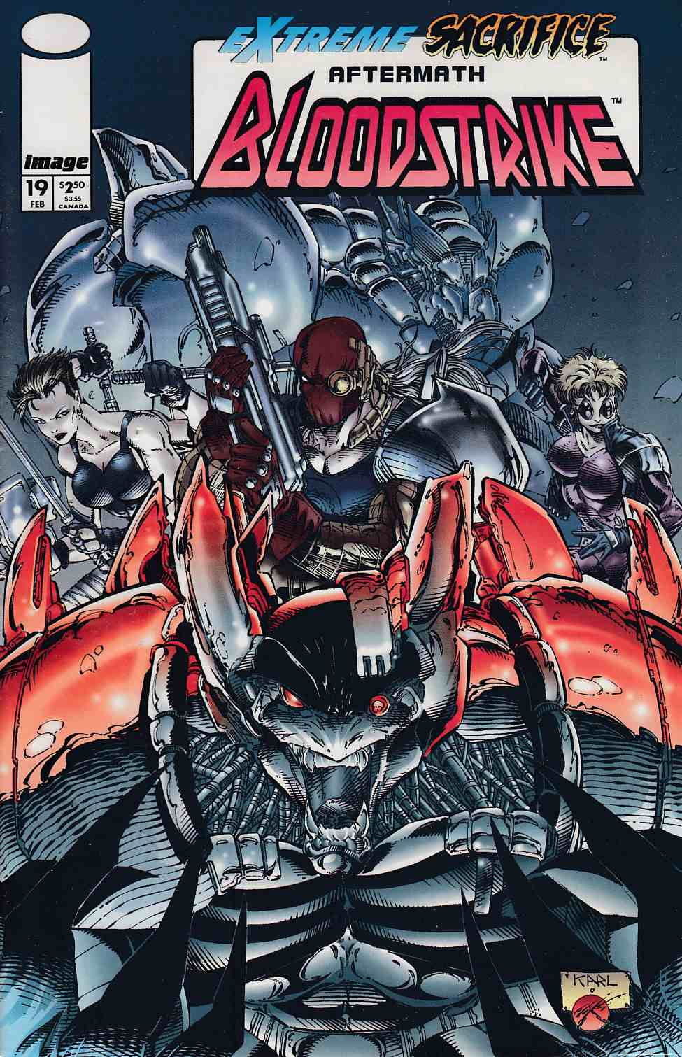 Bloodstrike #19 Polybagged Near Mint (9.4) [Image Comic] THUMBNAIL