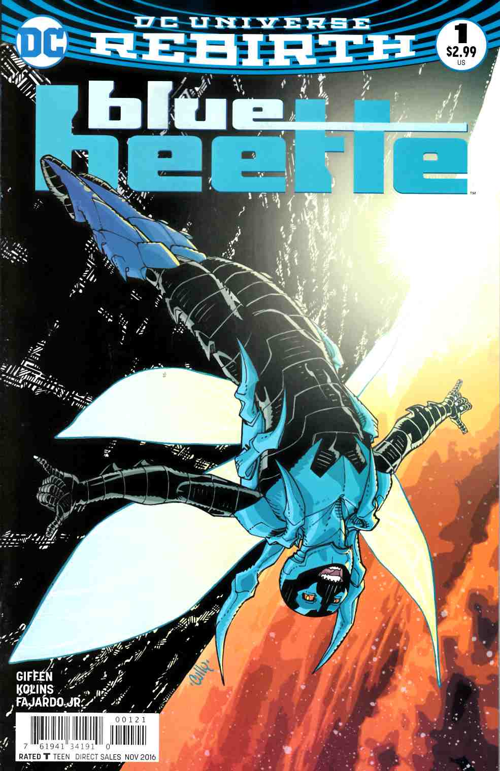 Blue Beetle #1 Ansin Variant Cover [DC Comic] THUMBNAIL
