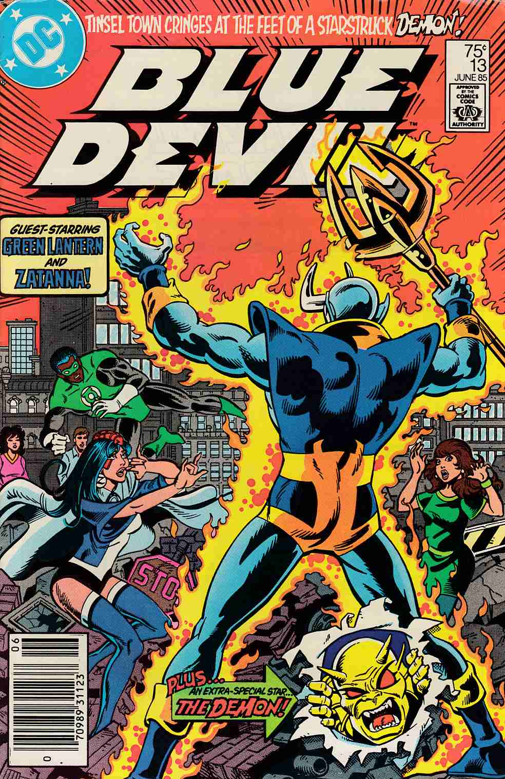 Blue Devil #13 Newsstand Edition Fine (6.0) [DC Comic] LARGE