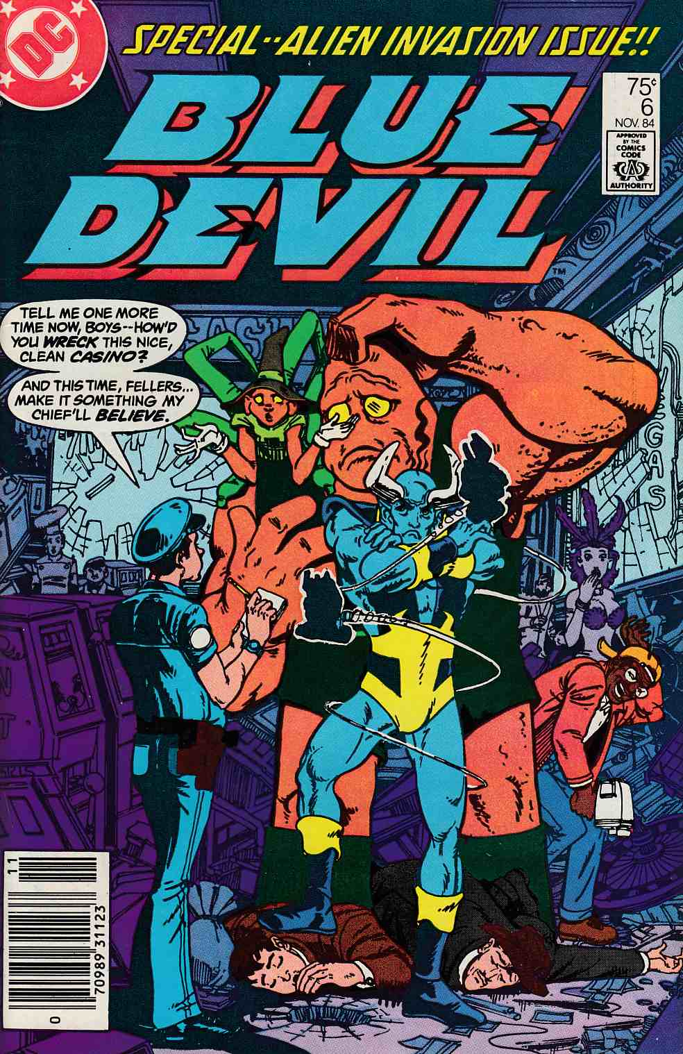 Blue Devil #6 Newsstand Edition Very Fine (8.0) [DC Comic] LARGE