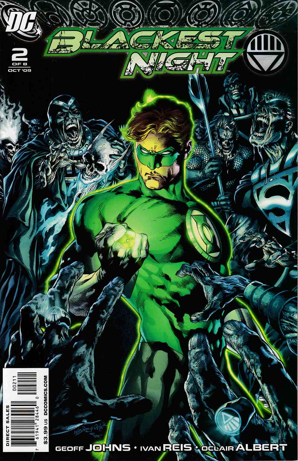 Blackest Night #2 Near Mint (9.4) [DC Comic] LARGE